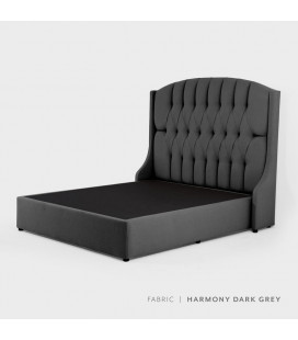Charlotte bed - Double | Harmony Dark Grey