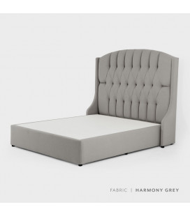 Charlotte Bed - Queen XL | Harmony Grey