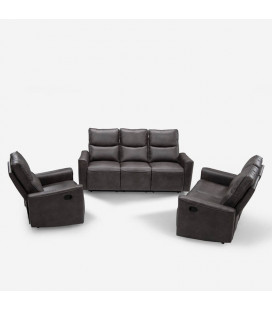 Collin Recliner Set - Mercury