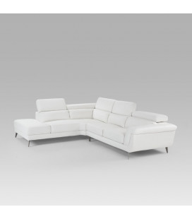 Damian White Corner Couch | Fabric Couches for Sale -