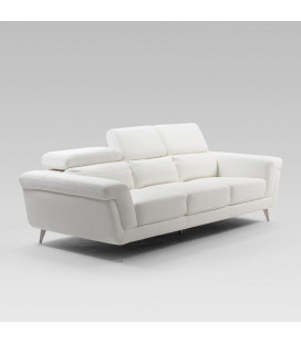 Damian White 3 Seater Fabric Couch | Fabric Couches -