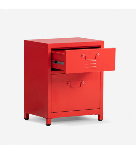 Gable Steel Pedestal - Red | Pedestals and Bedside Tables | Bedroom | Cielo -