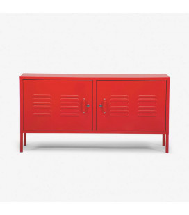 Gable Steel TV Stand - Red