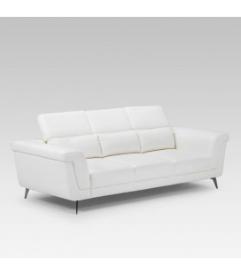 Laurence Three Seater - White -