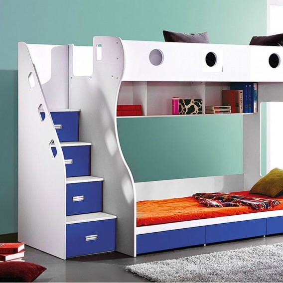 Storage Bunk Bed Blue Kids Bunk Beds For Sale