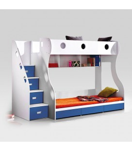 Storage Bunk Bed - Blue