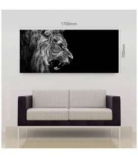 CAN-BW20 - Lion Roars Canvas - Large -