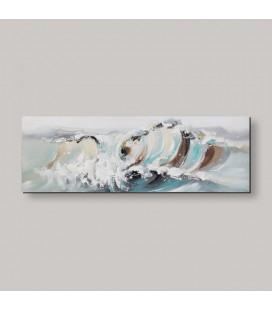 Abstract Wave - Oil Painted Canvas