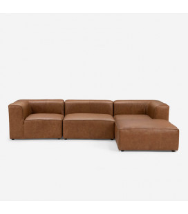 Burbank 3 Seater Couch - L-Shape - Tan