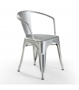 Fritz Metal Dining Chair - Bullet Silver | Dining Chairs | Dining Room Furniture | Cielo -