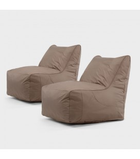 LG-80X70x2 - Miles Bean Bag Chair - Set of Two -