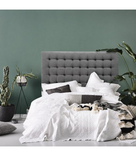 Ryland Headboard - Queen - Dark Grey -