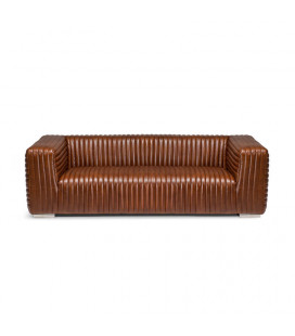 Carson Couch-Brown | Leather Couches -