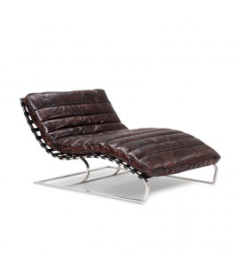 Morello Chaise - Large - Vintage Dark Brown | Leather Couches | Living | Cielo -