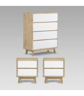 Farrow Chest of Drawers + Pedestal Set | Bedroom Combo -