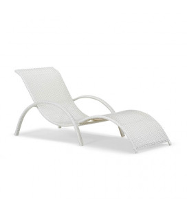Alisa Pe Rattan Pool Lounger - White | Loungers for Sale | Patio | Cielo -