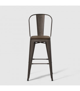 Conrad Metal Bar Chair - Weathered Bronze