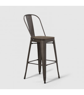 Conrad Metal Bar Chair | Weathered Bronze| Bar Chairs for sale -