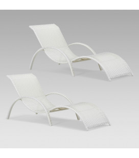 Alisa Pool Loungers - White - Set of 2 | Loungers for Sale -
