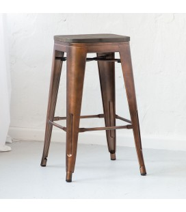 Matthew Metal Stool - Copper