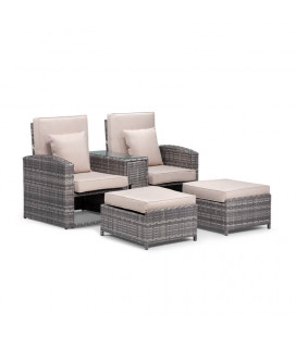 Boston Pool Lounger Set - Titanium| Patio Sets | Patio | Cielo -