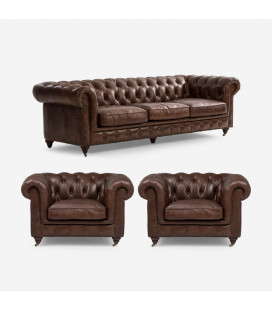 Jefferson Lounge Suite - Vintage Brown