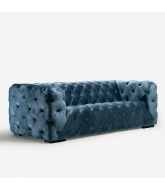 Coleford Couch Silver Blue Fabric