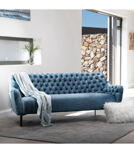 Luther Couch - Silver Blue | Fabric Couches | Couches | Living | Cielo -