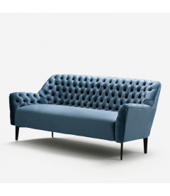 Luther Couch Silver Blue Fabric