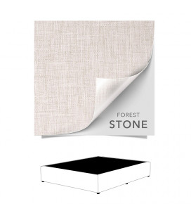 Upholstered Bed Base Double - Forest Stone -