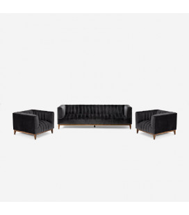 Astoria Lounge Suite - Velvet Charcoal | Fabric Couches | Couches | Living | Cielo -