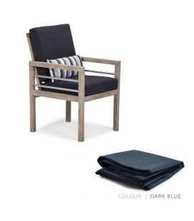 Capri Dining Chair - Protective Cover - Dark Blue | Protective Cover | Patio | Waterproof Cover | Cielo -