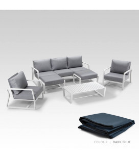 Lisbon Patio Lounge Set - Protective Cover - Dark Blue | Patio Covers | Patio | Cielo -