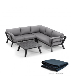 Marsala Corner Patio Lounge Set - Protective Cover - Stone | Patio Covers | Patio | Cielo -