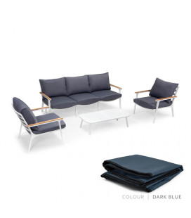 Melbourne Patio Set Protective Cover - Dark Blue | Protective Covers | Patio | Cielo -