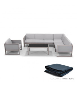 Quintero Patio Lounge Set - Protective Cover - Dark Blue| Patio Covers | Patio | Cielo -