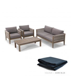 Savina Patio Set - Protective Cover - Dark Blue | Patio Covers | Patio | Cielo -