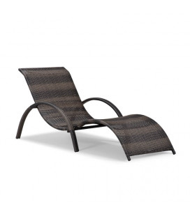 Alisa Pe Rattan Pool Lounger - Brown -21 Day Deals | Loungers for Sale | Patio | Cielo -