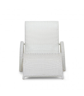 Alisa Pe Rattan Pool Lounger - White - 21 Day Deals | Loungers for Sale | Patio | Cielo -