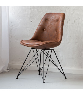 Enzo Dining Chair - Vintage Brown - 21 Day Deals -