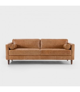 Harrison Tan Couch | Leather Couches | 21 Day Deals -