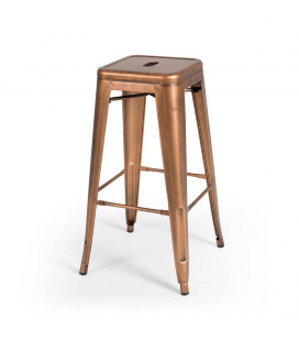Malcolm Copper Metal Stool - Copper