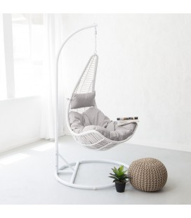 White Lucia Hanging Chair | Patio Hanging Chairs | 21 Day Deals -