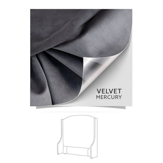 Audrey Headboard King Velvet Mercury Bedroom