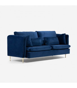 Sherman Couch - Royal Blue | Fabric Couches | 21 Daily Deals -