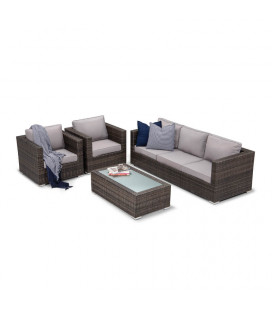 Brown Montae 4 Piece Patio Lounge Set | Patio Sets -