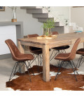 Vancouver Enzo Dining Set - Vintage Brown - 1.8m