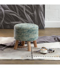Neo Handmade Stool - Teal | Living | Footstools |Living Room Furniture | Cielo | 21 Day Deals -