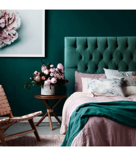 Catherine Double Headboard | Velvet Teal