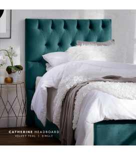Catherine Headboard | Velvet Teal